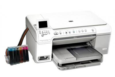 HP Photosmart C5383 All-in-one InkJet Printer with CISS