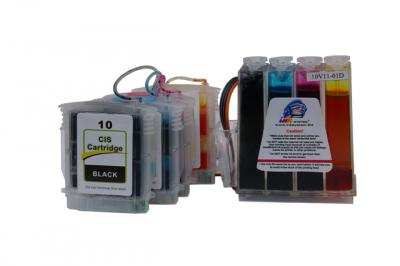 Continuous ink supply system (CISS) HP Officejet Pro K850/9100/9110/9120/9130 (cartridges 10, 11)