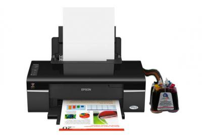 Epson Stylus Office T40w Inkjet Printer With Ciss