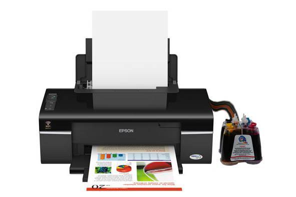 Epson Stylus Office T40w Inkjet Printer With Ciss