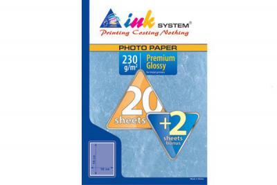 Photopaper INKSYSTEM Premium Glossy 10*15 cm (20+2 sheets, 230 g/m2)