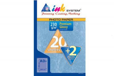 Photopaper INKSYSTEM Premium Glossy A3+ (20+2 sheets, 230 g/m2)