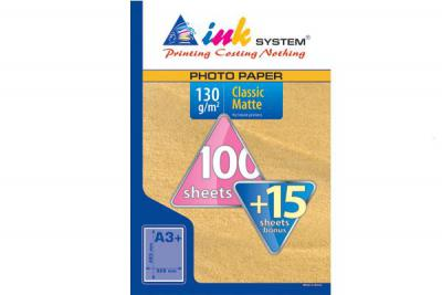 Photopaper INKSYSTEM MATTE A3+ (100+15 sheets, 130 g/m2)