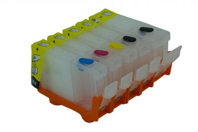 Refillable cartridges for Canon ip4200/ip5200/MP500