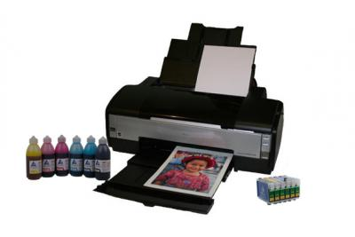 Printer Epson Stylus Photo 1410 with refillable cartridges
