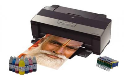 Printer Epson Stylus Photo R1900 with refillable cartridges