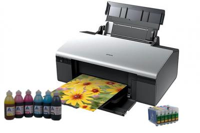 Printer Epson Stylus Photo R290 with refillable cartridges