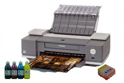 Printer Canon PIXMA IX4000 with refillable cartridges