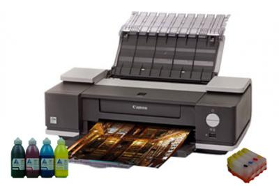 Printer Canon PIXMA IX5000 with refillable cartridges
