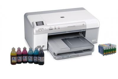 Printer HP Photosmart D5463 with refillable cartridges