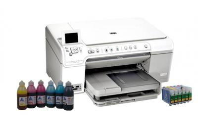 All-in-one HP Photosmart C5383 with refillable cartridges