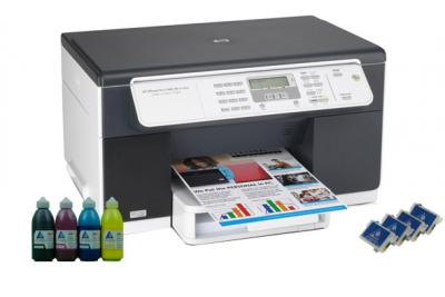 All-in-one HP OfficeJet L7480 with refillable cartridges