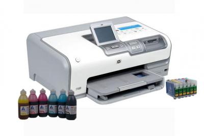 Printer HP Photosmart D7363 with refillable cartridges