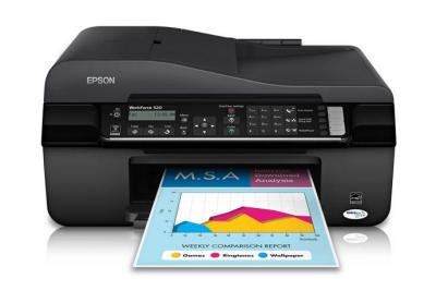 Epson WorkForce 520 with Refillable Cartridges