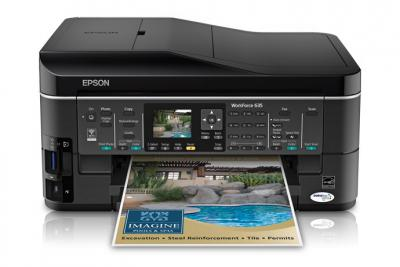 Epson WorkForce 635 with Refillable Cartridges