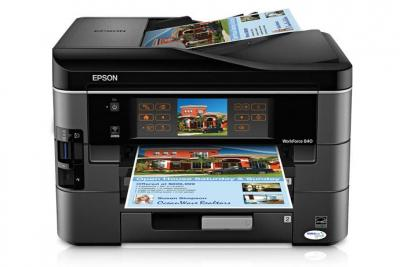 Epson WorkForce 840 with Refillable Cartridges