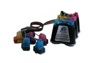 Continuous ink supply system (CISS) HP D7145, D7155, D7160, D7163, D7168, D7183, D7263 (cartridges 02, 363, 177)