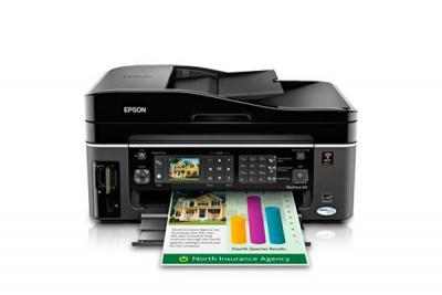 Epson WorkForce 610  with Refillable Cartridges