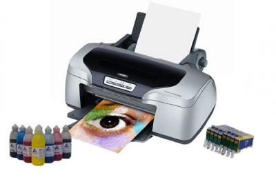 Printer Epson Stylus Photo R800 with refillable cartridges