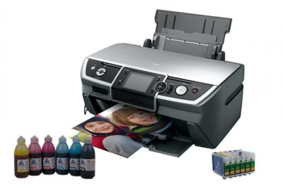 Printer Epson Stylus Photo R390 with refillable cartridges