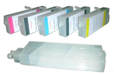 Refillable cartridges for Canon IPF 750/755/810/820