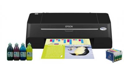 Printer Epson Stylus T27 with refillable cartridges