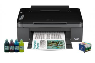 All-in-one Epson Stylus TX106 with refillable cartridges