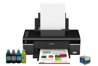 Printer Epson Stylus Office T40W with refillable cartridges