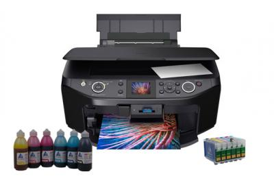 All-in-one Epson Stylus Photo RX610/RX615 with refillable cartridges