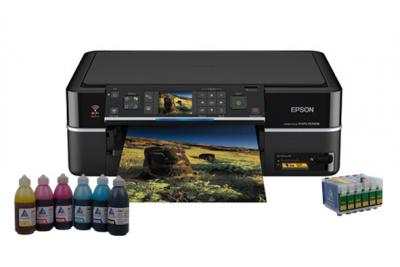 All-in-one Epson Stylus Photo TX700FW with refillable cartridges