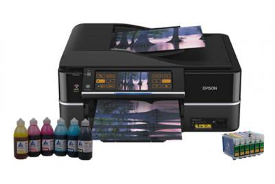 All-in-one Epson Stylus Photo TX800FW with refillable cartridges