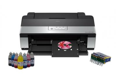 Printer Epson Stylus Photo R2880 with refillable cartridges