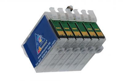 Refillable cartridges for Epson RX610/RX615