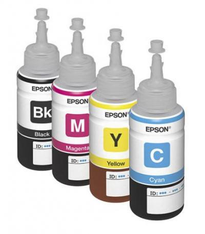 Set of original Epson L100 dye-based ink 70ml