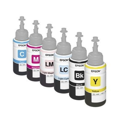 Set of original Epson Inkjet Photo L800 dye-based ink 70ml