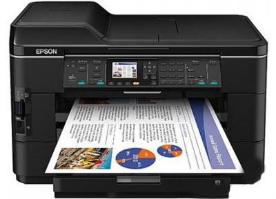 Epson Workforce WF-7525 with refillable cartridges