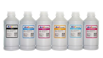 Set of ecosolvent ink INKSYSTEM 1000 ml (6 colors)