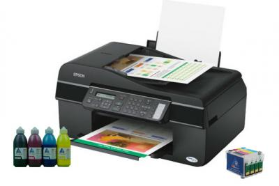 All-in-one Epson Stylus Office BX300F with refillable cartridges