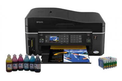 All-in-one Epson Stylus Office SX600FW with refillable cartridges