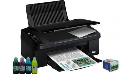All-in-one Epson Stylus SX105 with refillable cartridges