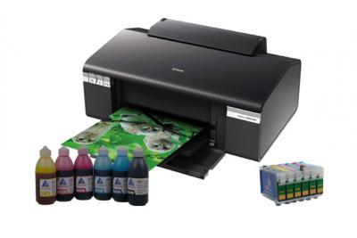 Printer Epson Stylus Photo R285 with refillable cartridges