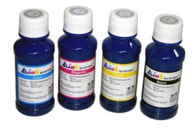 Set of photo ink INKSYSTEM for HP DeskJet 3653 (4 colors*100 ml)