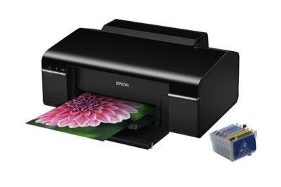 Printer Epson Stylus Photo P50 with refillable cartridges