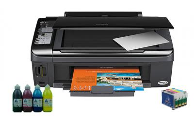 All-in-one Epson Stylus SX210 with refillable cartridges