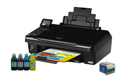All-in-one Epson Stylus SX410 with refillable cartridges