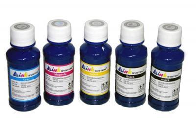 Set of photo ink INKSYSTEM for HP Photosmart D5463 (5 colors*100 ml)