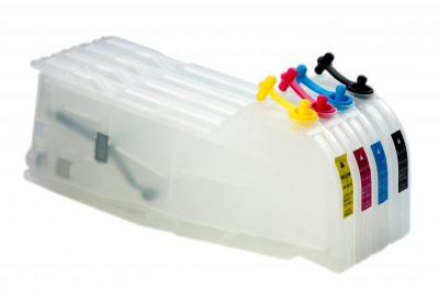 Refillable cartridges for Brother DCP 185C/385C/535CN/585CW/6690CW (980/990)